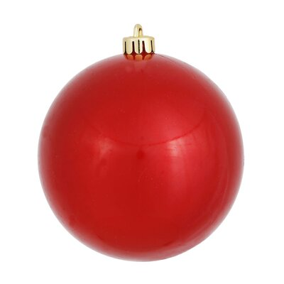 """UV Drilled Candy Ball Ornament Size: 6"""" H x 6"""" W x 6"""" D, Color: Red"""