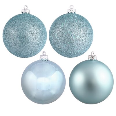 Christmas Ball Ornament with Cap Color: Baby Blue