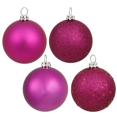 Christmas Ball Ornament with Cap Color: Magenta