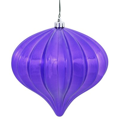 Christmas Finial Drop Ornament with Secured Cap Color: Purple