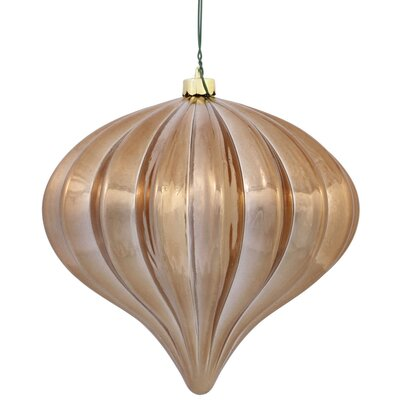 Christmas Finial Drop Ornament with Secured Cap Color: Mocha