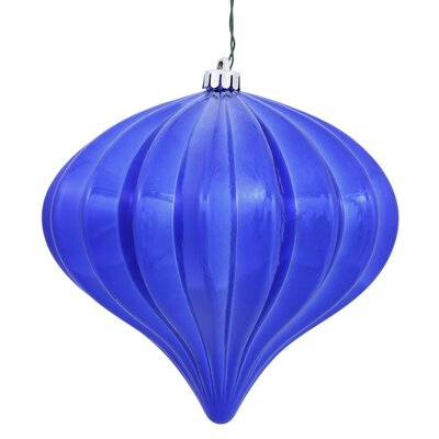 Christmas Finial Drop Ornament with Secured Cap Color: CobaLight Blue