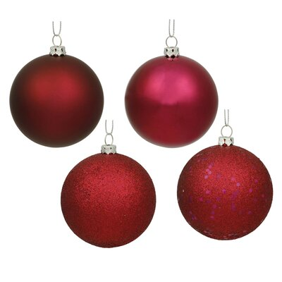 Christmas Ball Ornament with Cap Color: Wine