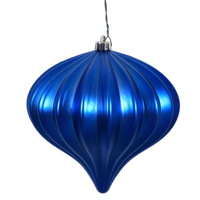 Onion Christmas Ornament with Cap Color: Blue
