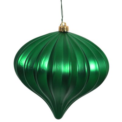 Onion Christmas Ornament with Cap Color: Green