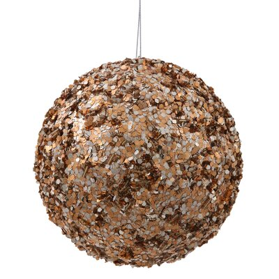 "Sparkle Sequin Ball Ornament Size: 4.75"", Color: Mocha"