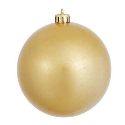 """UV Drilled Candy Ball Ornament Size: 6"""" H x 6"""" W x 6"""" D, Color: Gold"""