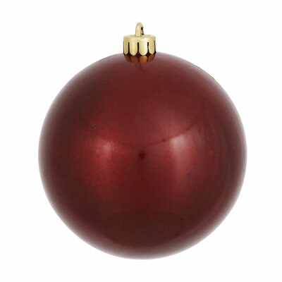 """UV Drilled Candy Ball Ornament Size: 6"""" H x 6"""" W x 6"""" D, Color: Burgundy"""