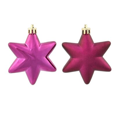 36 Piece Star Ornament Set Color: Eggplant