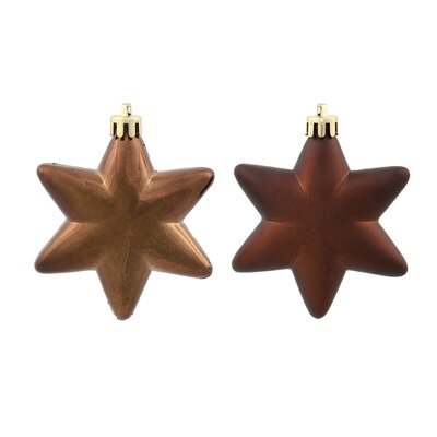 36 Piece Star Ornament Set Color: Chocolate