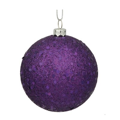 Assorted Ball Drilled Christmas Ornament Color: Purple