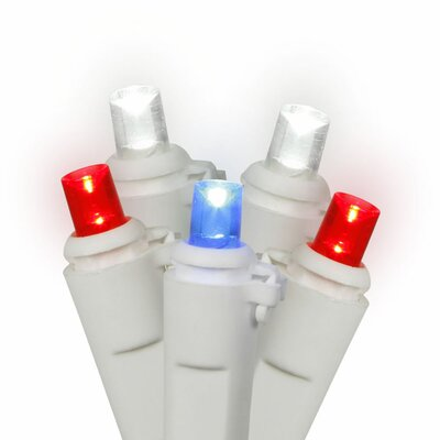 50 Light LED Light Set Color: Red/White/Blue