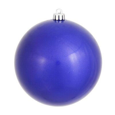 """UV Drilled Candy Ball Ornament Size: 6"""" H x 6"""" W x 6"""" D, Color: Cobalt Blue"""