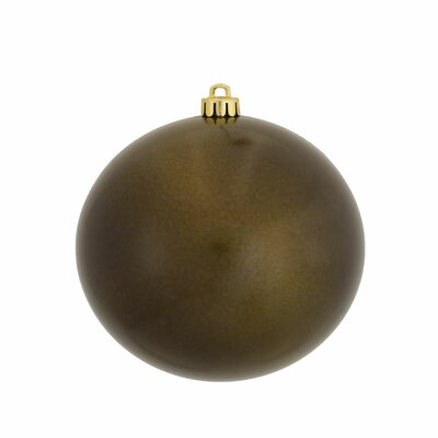 """UV Drilled Candy Ball Ornament Size: 4.75"""" H x 4.75"""" W x 4.75"""" D, Color: Olive"""