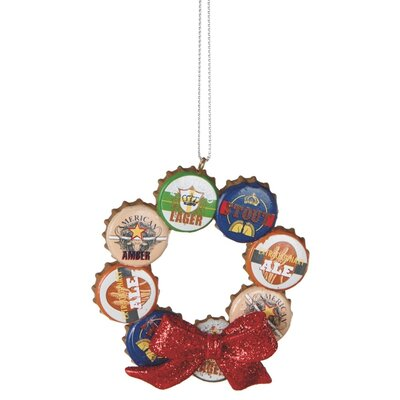 Specialty Bottle Cap Wreath Ornament