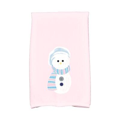 Jump for Joy Sock Snowman Hand Towel Color: Pink