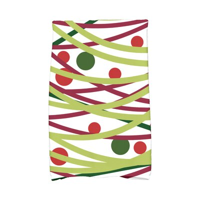 Jump for Joy Doodle Decorations Hand Towel Color: Green