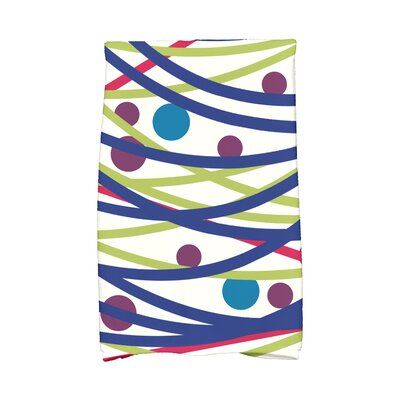 Jump for Joy Doodle Decorations Hand Towel Color: Blue