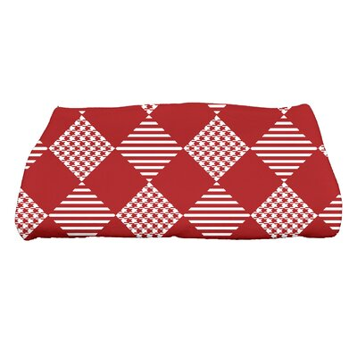 Jump for Joy Check It Twice Bath Towel Color: Red