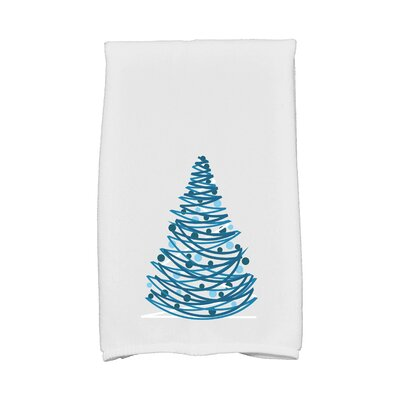 Jump for Joy Oh Christmas Tree Hand Towel Color: Gray