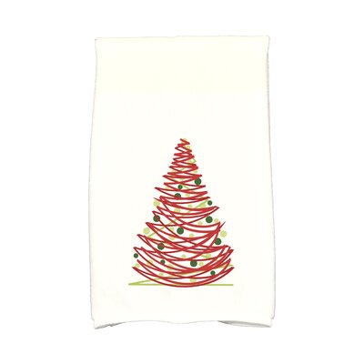 Jump for Joy Oh Christmas Tree Hand Towel Color: Red