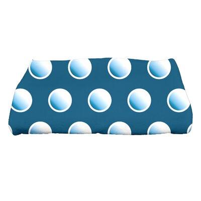 Jump for Joy Dip Dye Dots Bath Towel Color: Teal