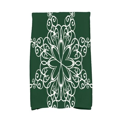 Holiday Wishes Snowflake Hand Towel Color: Green
