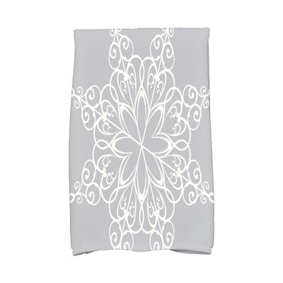 Holiday Wishes Snowflake Hand Towel Color: Gray