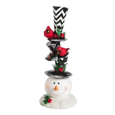 Classic Holiday Stacked Snowman Decor