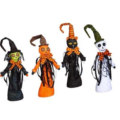 4 Piece Spooky Halloween Characters Plush Dcor Set