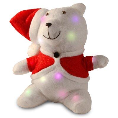 Decorative Dcor Pre-Lit Cotton Bear Christmas Decoration