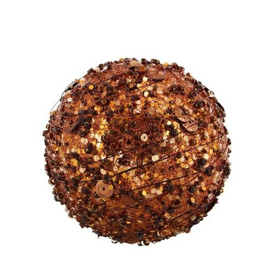 Sparkle Glitter and Sequin Kissing Christmas Ball Ornament Color: Chocolate