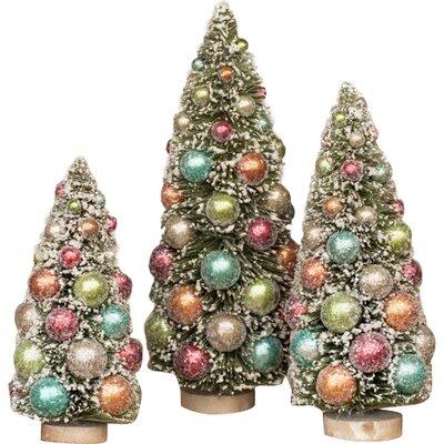 """Pastel Ornament Tree Size: 10"""" H x 5"""" W x 5"""" D"""