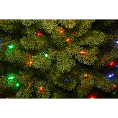 """Downswept Douglas 78"""" Green Fir Artificial Christmas Tree with 650 Clear/White Lights with Stand"""