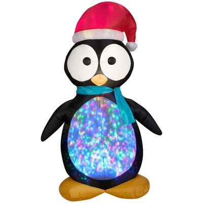 Projection Airblown Kaleidoscope Penguin Large Inflatable