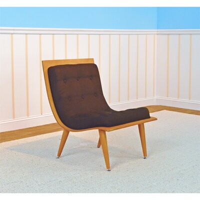 Rave Lounge Chair Upholstery: Bison, Finish: Natural