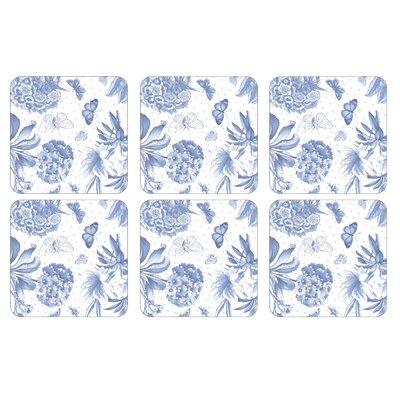 Pimpernel Botanic Blue Pimpernel Coasters