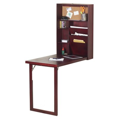 Andover Mills Doric Floating Desk with Hutch