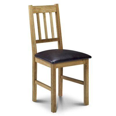 Andover Mills Peaslee Solid Wood Upholstered Dining Chair