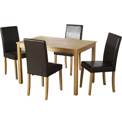 Andover Mills Anns Dining Table and 4 Chairs