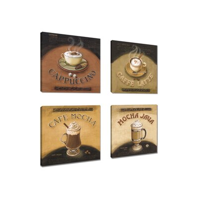 Andover Mills Coffee 4 Piece Vintage Advertisement Wrapped on Canvas Set
