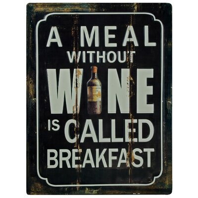 Andover Mills A Meal Without Wine Typography Plaque