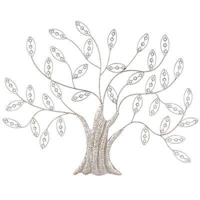 Andover Mills Fancy Tree with Acrylic Beads Metal WallDécor
