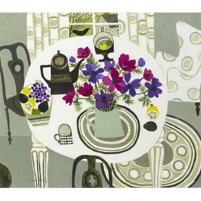 Andover Mills Interior with Anemones by Vanessa Bowman Art Print