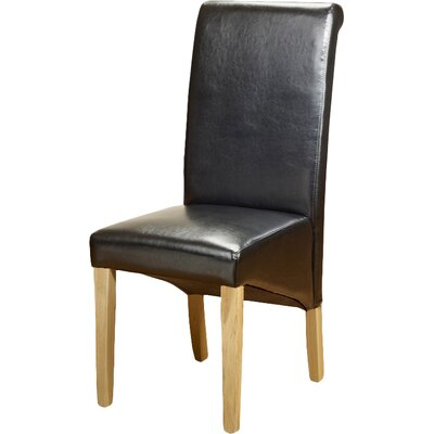 Andover Mills Roanoke Solid Wood Upholstered Dining Chair