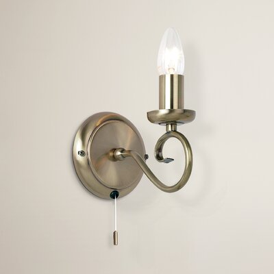 Andover Mills Stanley Classic 1 Light Candle Wall Light