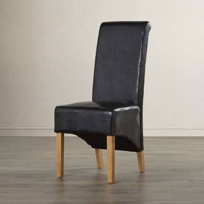 Andover Mills Woodview Solid Oak Upholstered Dining Chair