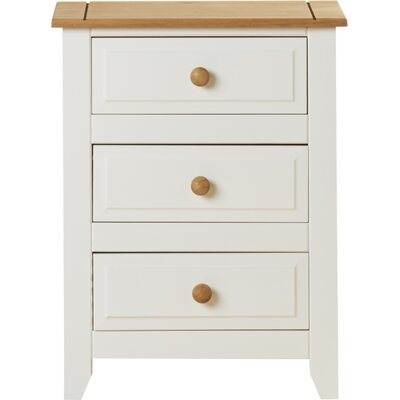Andover Mills Mystic 3 Drawer Bedside Table