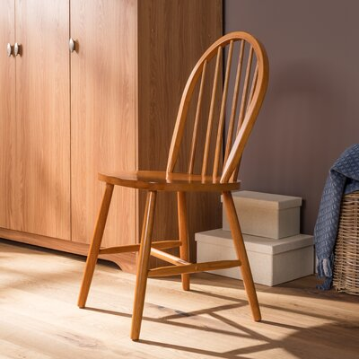 Andover Mills Maguire Solid Rubberwood Dining Chair