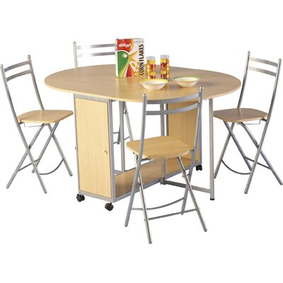 Andover Mills Annis Extendable Dining Table and 4 Chairs